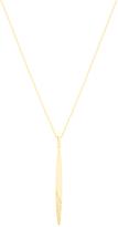 Bliss Cubic Zirconia & Gold Bar Pendant Necklace