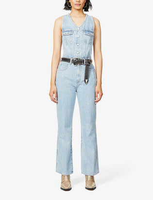 AGOLDE 70s Straight Organic-Cotton Denim Jumpsuit