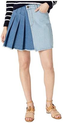 McQ Maru Kilt (Light/Dark Wash) Women's Skirt