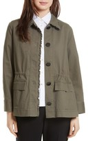 Kate Spade Women's Ruffle Military Jacket