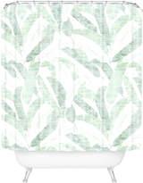 Deny Designs Banana Leaf Light Shower Curtain
