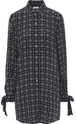Equipment + Tabitha Simmons Manning Printed Crepe De Chine Mini Shirt Dress