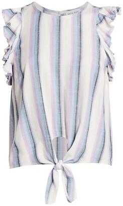 Bella Dahl Ruffle-Sleeve Tie-Hem Top