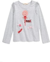 Truly Me Candy Embellished Long Sleeve Graphic Tee