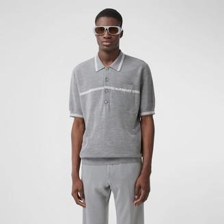 Burberry Stripe Detail Wool Polo Shirt