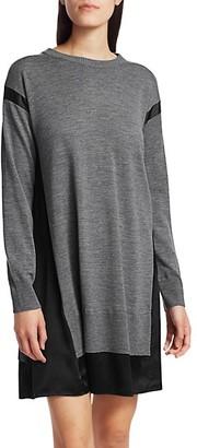 Rag & Bone Sadie Merino Wool Silk-Blend Shift Sweater Dress