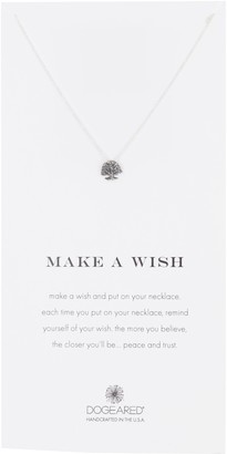 Dogeared Sterling Silver Make A Wish Tree Pendant Necklace
