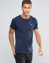 Asos Muscle T-Shirt With Embroidery In Navy