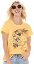 """Disney's Minnie Mouse Women's """"Beach Vibes"""" Graphic Tee by Family Fun"""