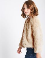 Marks and Spencer Faux Fur Zipped Coat (3-14 Years)