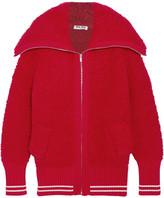 Miu Miu Oversized Bouclé-knit Cardigan - Red