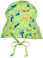 I Play Flap Sun Protection Hat (Baby/Toddler) - Lime Toucan - 9-12 Months