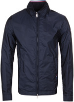 Paul & Shark Navy Nylon Hooded Slim Fit Jacket