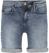 River Island Boys mid blue Dylan slim fit denim shorts
