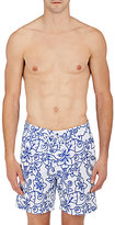 Sundek MEN'S FLORAL-OUTLINE SWIM TRUNKS