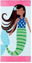 Pottery Barn Kids Mermaid Kid Beach Towel, Dark Brown