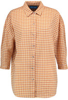 MiH Jeans Poets Checked Cotton-Blend Shirt