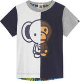 A Bathing Ape Elephant and Baby Milo print cotton T-shirt 4-8 years