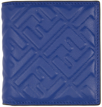 Fendi Blue Forever Slim Bifold Wallet