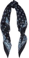 Saint Laurent Paisley-print Cashmere And Silk-blend Scarf - Blue