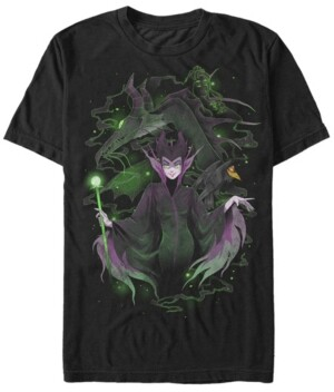 Disney Princess Disney Men's Sleeping Beauty Maleficent Manga Style Short Sleeve T-Shirt