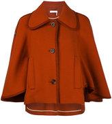 Chloé classic heritage cape - women - Polyamide/Viscose/Virgin Wool - 36