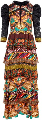 Alice + Olivia Wilhemina Tiered Maxi Dress