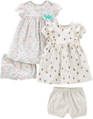 Carter's Simple Joys By Simple Joys by Girls' 2-Pack Short-Sleeve and Sleeveless Dress Sets