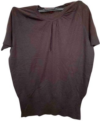Brioni Brown Cashmere Top for Women