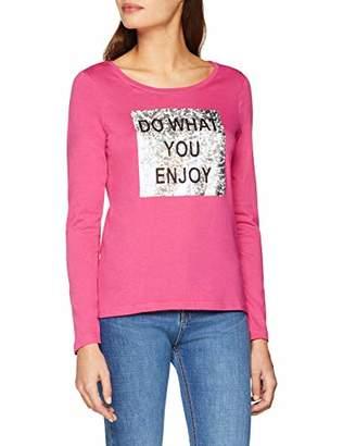 Blue Seven Women's Damen-Langarmshirt von mit Front-Druck T-Shirt