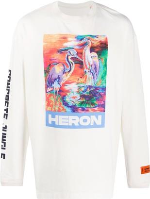 Heron Preston bird-print long-sleeved T-shirt