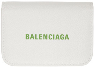 Balenciaga White Cash Mini Card Holder
