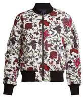 Diane von Furstenberg Canton-print reversible bomber jacket