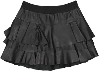 Designers Remix Black Leather Skirts