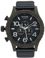 Nixon 5130 Chrono Leather Chronograph Watch Bronze/black