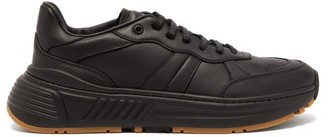 Bottega Veneta Speedster Exaggerated Sole Leather Trainers - Mens - Black