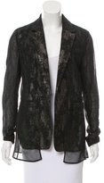 Reed Krakoff Metallic Knit Open-Front Blazer