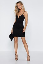 Nasty Gal Womens If It Was Down To V Faux Suede Dress - Black - 4, Black