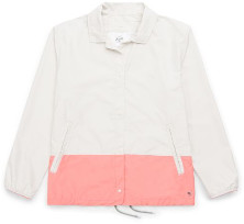 Herschel Packable Contrast Voyage Coach Jacket - S - Pink/White