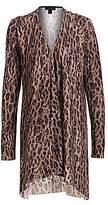 Saks Fifth Avenue Women's COLLECTION Leopard-Print Cashmere Cardigan
