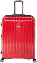 Linea Titanium II red 8 wheel hard large suitcase