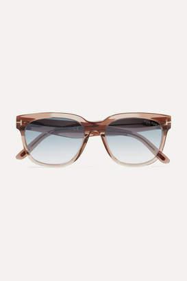 Tom Ford Rhett D-frame Acetate Sunglasses - Light brown