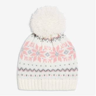 Joe Fresh Kid Girls' Fair Isle Beanie, Off White (Size S/M)
