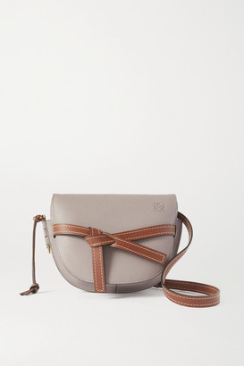 Loewe Gate Small Textured-leather Shoulder Bag - Gray