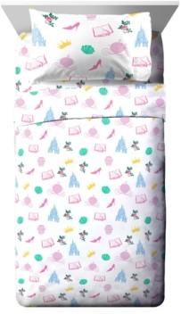 Disney Princess Sassy 3 Piece Twin Sheet Set Bedding