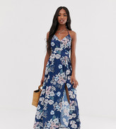 Parisian Tall floral wrap front maxi dress