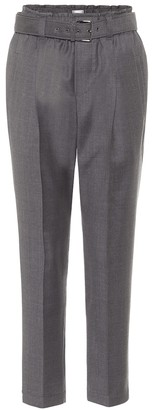 Brunello Cucinelli Belted virgin-wool paperbag pants