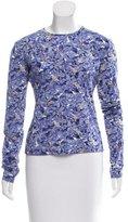 Nina Ricci Long Sleeve Floral Print Top w/ Tags