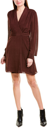 Equipment Allaire Silk-Blend Wrap Dress