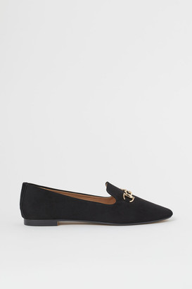 H&M Buckled Loafers - Black